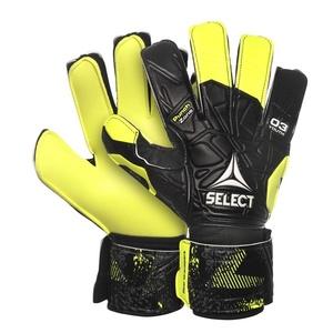 Bramkarzskie rękawice Select GK gloves 03 Youth Flat cut czarno żółty, Select