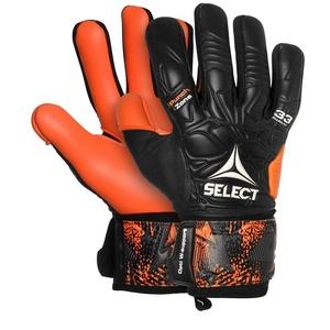Bramkarzskie rękawice Select GK gloves 33 Allround Negative Cut czarno pomarańczowy, Select
