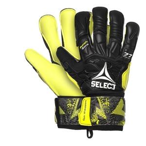 Bramkarzskie rękawice Select GK gloves 77 Super Grip Hyla cut czarno żółty