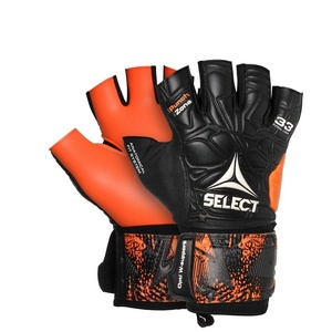 Bramkarzskie rękawice Select GK gloves Futsal Liga 33 Negative Cut czarno pomarańczowy