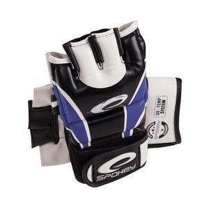 Skórzanne rękawice do MMA Spokey JUNYO niebieskie, Spokey