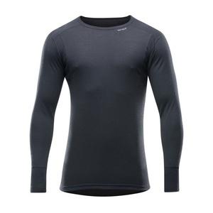 Męskie wełniane koszulka Devold Hiking Man Shirt black GO 245 220 A 950A