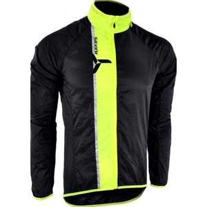 Męska ultra light kurtka Silvini GELA MJ801 black-neon