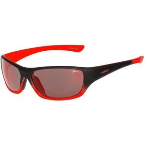 Dziecięce przeciwsłoneczne okulary RELAX Mona czarno pomarańczowe R3066B, Relax