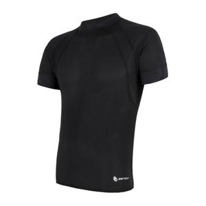 Męskie koszulka Sensor Coolmax Fresh Air czarny 16100079, Sensor