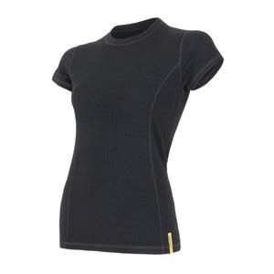 Damskie koszulka Sensor MERINO DOUBLE FACE czarne 15100017, Sensor