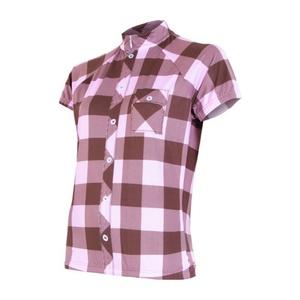 Damska bluza rowerowa Sensor Square brązowy / różowy 16100039, Sensor
