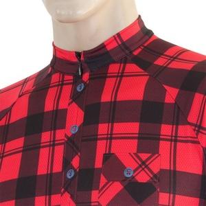 Męski cyklo bluza Sensor CYKLO SQUARE czerwony 16100022, Sensor