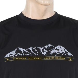 Koszulka męska Sensor PT Coolmax Fresh Hory czarne 16100001, Sensor