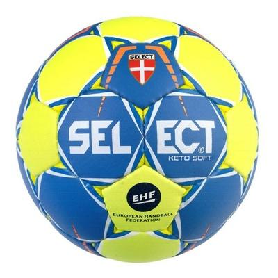 Piłka ręczna Select HB Keto soft żółty niebieski, Select