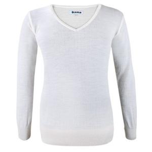 Damski sweter Kama 5101 101 naturalnie biały, Kama