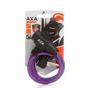 Zamek AXA Zipp 120/8 klucz fioletowy 59712096SC, AXA