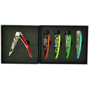 Deejo zestaw 5 nożów Tattoo Street 37G DEE037, Deejo