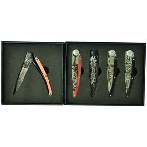 Deejo zestaw 5 nożów Tatto Biker 37G DEE038, Deejo