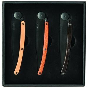 Deejo zestaw 3 nożów Wood Black 37G DEE041, Deejo