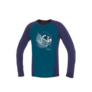 Koszulka Direct Alpine Furry long benzyna / indygo (miejsce)