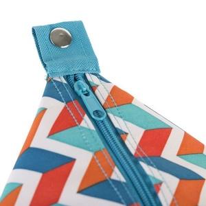 Plażowa thermo torba Spokey SAN REMO niebieska zygzak, 52 x 20 x 40 cm, Spokey