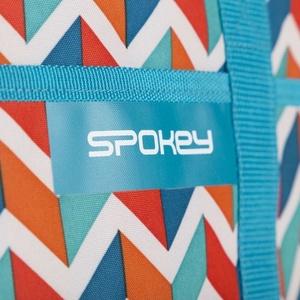 Plażowa thermo torba Spokey ACAPULCO niebieska zygzak, 39 x 15 x 27 cm, Spokey