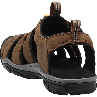 Sandały Keen CLEARWATER CNX Leather Mężczyźni ciemność ziemia/czarny, Keen
