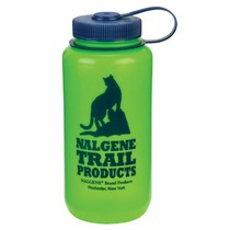 Butla Nalgene Szeroki Mouth 2179-1032 green cat logo, Nalgene