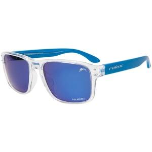 Przeciwsłoneczna okulary RELAX Beach przeżroczyste niebieskie R2318D, Relax