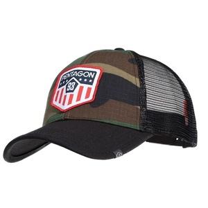 Czapka z daszkiem Era Trucker USA Flag PENTAGON® USA woodland, Pentagon