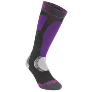 Skarpety Bridgedale Ski Easy On Women's graphite/purple/134, bridgedale
