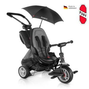 Dziecięca rowerek trójkołowy PUKY CAT S6 Ceety City Premium czarny, Puky