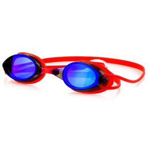na basen okulary Spokey SPARKI czerwone, lustro szkła, Spokey