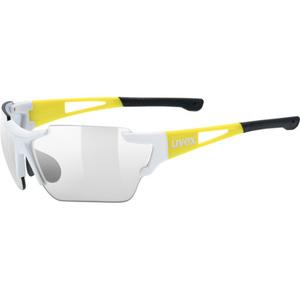 Sportowe okulary Uvex SPORTSTYLE 803 RACE VM, White Yellow (8605), Uvex