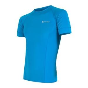 Męskie koszulka Sensor Coolmax Fresh niebieskie 13000007, Sensor