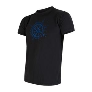 Męskie koszulka Sensor PT Coolmax Fresh Kompas czarne 16200004, Sensor