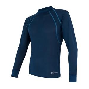 Męskie koszulka Sensor Coolmax Fresh Air ciemno niebieskie 17200046, Sensor