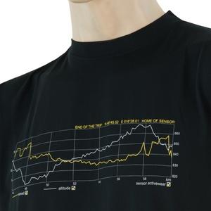 Męskie koszulka Sensor COOLMAX FRESH PT TRACK czarne 17200048, Sensor