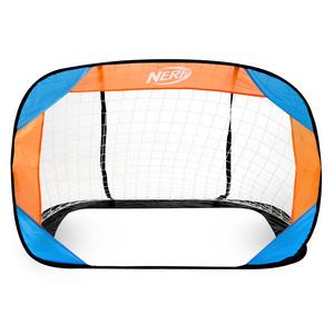 Samorozkładalny piłka nożna bramka Spokey HASBRO BUCKLER  Nerf 2 szt. niebieski i pomarańczowy, Spokey