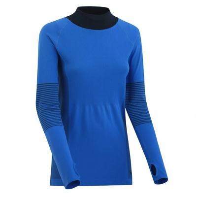 Damskie sportowa koszulka z długim rękawem Kari Traa Sofie 622041, niebieska