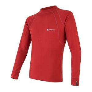 Męskie koszulka Sensor MERINO DOUBLE FACE ciemno. czerwona 18200045, Sensor
