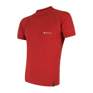 Męskie koszulka Sensor MERINO DOUBLE FACE ciemno. czerwona 18200044, Sensor
