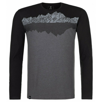 Koszulka męska długi rękaw Kilpi DRUMON-M ciemnoszary