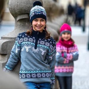 Dziecięcy Merino sweter Kama 1012 108, Kama