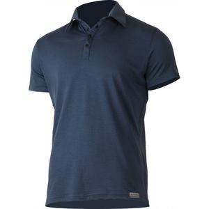 Męskie wełnianna koszulka polo Lasting ELIOT 5656 niebieska wełnianna, Lasting