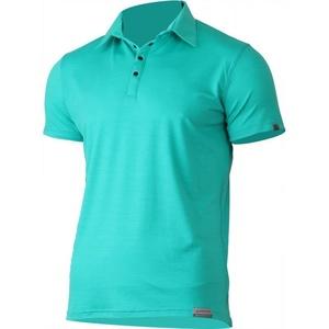 Męskie wełnianna koszulka polo Lasting ELIOT 6565 zielony, Lasting
