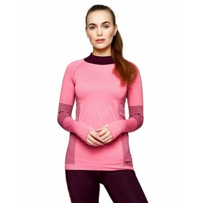 Sportowa koszulka damska z długim rękawem Kari Traa Sofia 622041, różowa, Kari Traa
