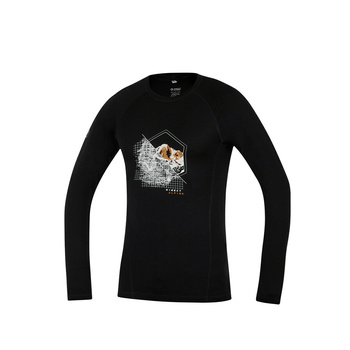 Koszulka Direct Alpine Furry long czarny (miejsce)
