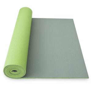 Podkładka do jogę YATE joga mat dwuwarstwowa zielony / szary, Yate