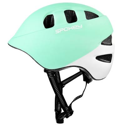 Kidsęcy kask rowerowy Spokey CHERUB IN-MOLD, 48-52 cm, turkusowo-biały, Spokey