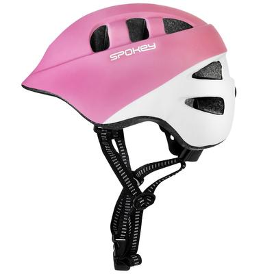 Kidsęcy kask rowerowy Spokey CHERUB IN-MOLD, 48-52 cm, różowo-biały, Spokey