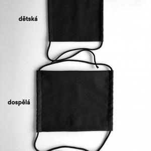 monochroMatyczny bawełna maska KAMA z kieszenią do filtr, Kama