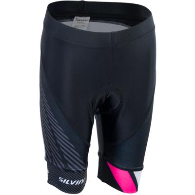Dziecięce rowerowe spodnie Silvini Team CP1436 black/pink