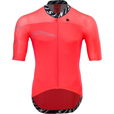 Męski koszulka rowerowa Silvini Stelvio MD1604 rubin